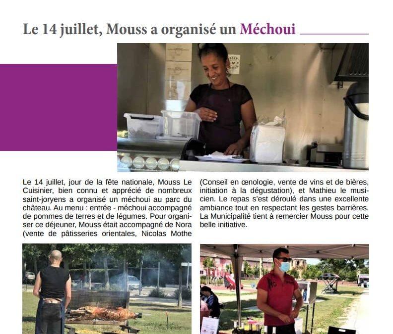 Le 14 juillet, Mouss a organisé un Méchoui